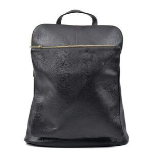 Isabella Rhea Černý kožený batoh Isabella Rhea Hurto