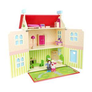Legler Dřevěný domeček s odnímatelnou střechou pro panenky Legler Doll