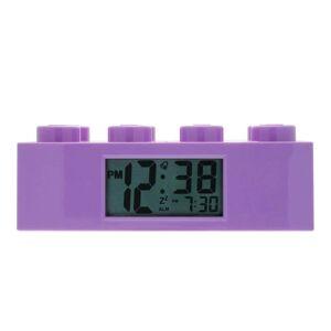 LEGO® Fialové hodiny s budíkem LEGO® Brick