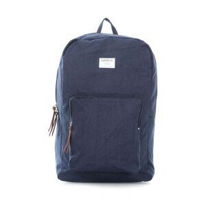Sandqvist Tmavě modrý batoh s koženými detaily Sandqvist Kim