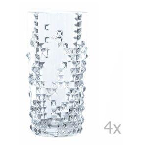 Nachtmann Sada 4 sklenic z křišťálového skla Nachtmann Punk Long Drink, 390 ml