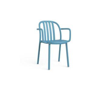 Resol Sada 2 modrých zahradních židlí s područkami Resol Sue