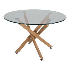 Canett Jídelní stůl se skleněnou deskou Canett Luri, ø 100 cm