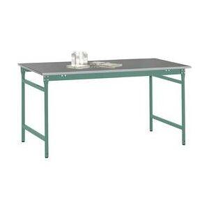 Manuflex BB3004.0001 Servírovací stolek základní stacionárně s plech krytina deska ve šedozelená HF 0001, Šxhxv: 750 x 500 x 780 mm