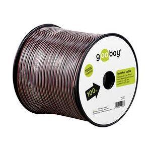 goobay Reproduktorový kabel Goobay 15080, 2 x 0.75 mm², červená/černá, 50 m