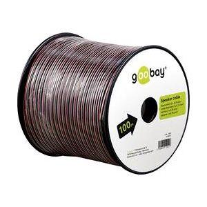 goobay Reproduktorový kabel Goobay 15022, 2 x 0.75 mm², červená/černá, 100 m