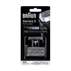 Braun Holicí fólie a holicí hlava Braun 51S stříbrná 1 sada