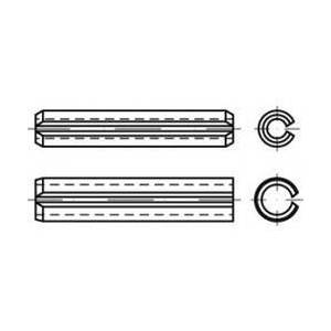 TOOLCRAFT DIN 7346, pružinová ocel, upínací kolíky (upínací), lehké provedení, rozměry: 16 x 16 25 ks