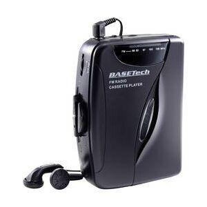 Basetech Přenosný přehrávač kazet Walkman Basetech KW-118C, černá