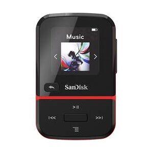 SanDisk MP3 přehrávač SanDisk Clip Sport Go, 16 GB, upevňovací klip, FM rádio, hlasové nahrávání, červená