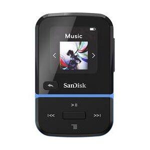 SanDisk MP3 přehrávač SanDisk Clip Sport Go, 32 GB, upevňovací klip, FM rádio, hlasové nahrávání, modrá