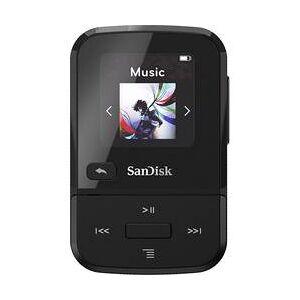 SanDisk MP3 přehrávač SanDisk Clip Sport Go, 32 GB, upevňovací klip, FM rádio, hlasové nahrávání, černá