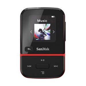 SanDisk MP3 přehrávač SanDisk Clip Sport Go, 32 GB, upevňovací klip, FM rádio, hlasové nahrávání, červená
