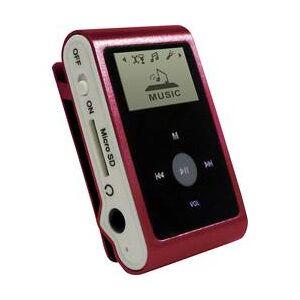mpman MP3 přehrávač mpman MP30WOM, 0 GB, upevňovací klip, červená