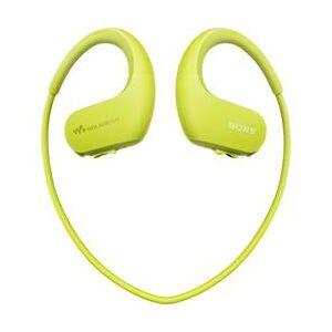 Sony Sportovní špuntová sluchátka Sony NW-WS413G NWWS413G.CEW, limetkově zelená