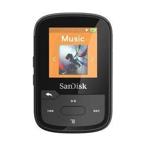 SanDisk MP3 přehrávač SanDisk 16 GB, upevňovací klip, Bluetooth, voděodolný, černá