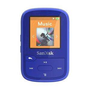 SanDisk MP3 přehrávač SanDisk 16 GB, upevňovací klip, Bluetooth, voděodolný, modrá