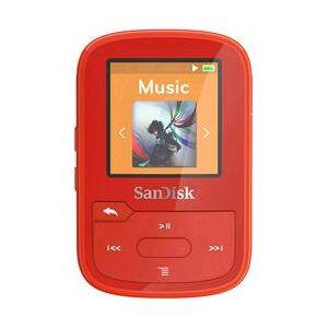 SanDisk MP3 přehrávač SanDisk 16 GB, upevňovací klip, Bluetooth, voděodolný, červená