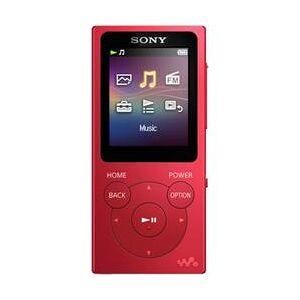 Sony MP4 přehrávač Sony NW-E393, 4 GB, červená