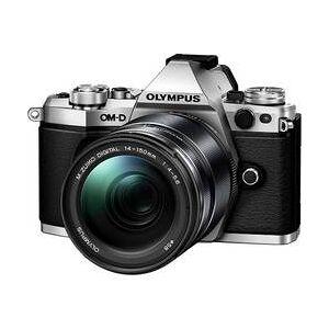 Olympus Systémový fotoaparát Olympus E-M5 Mark II 14-150 mm Kit, 17.2 MPix, stříbrná