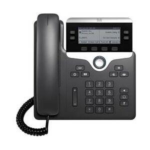 Cisco Systémový telefon, VoIP Cisco CP-7821-3PCC-K9= LCD displej černá, stříbrná