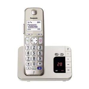 Panasonic Bezdrátový telefon pro seniory Panasonic KX-TGE220 záznamník, handsfree podsvícený displej champagne