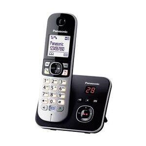 Panasonic Bezdrátový analogový telefon Panasonic KX-TG6821, černá, stříbrná