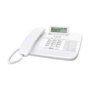 Gigaset Šňůrový telefon, analogový Gigaset DA710 konektor na sluchátka, handsfree matný bílá
