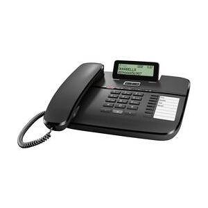 Gigaset Šňůrový telefon, analogový Gigaset DA810A záznamník, handsfree matný černá