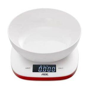 ADE Kuchyňská váha ADE KE 1412 Amelie, digitální, s odměrnou mísou, Max. váživost 5 kg, bíločervená