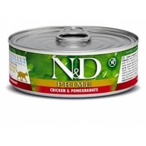 Natural&Delicious N&D cat  konz. PRIME chicken/POMEGRANATE - 12 x 80g