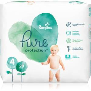 Pampers Pure Protection Size 4 pleny (9-14 kg) 28 ks