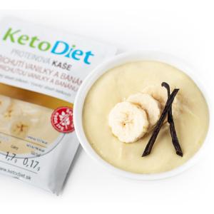 KetoDiet Proteinová kaše s příchutí vanilky a banánu 7porcí