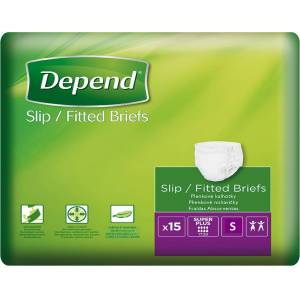 Depend plenkové kalhotky Slip Super Plus S 15ks