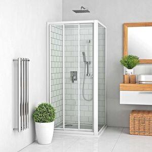 Roth Boční zástěna ke sprchovým dveřím 80x190 cm Roth Lega Line bílá 412-8000000-04-02