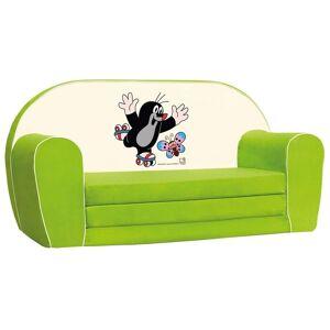 Bino Krteček mini pohovka zelená