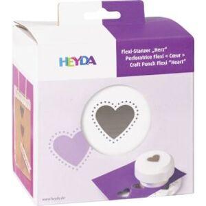 KANORG HEYDA ozdobná děrovačka flexi - srdce 1,5 cm