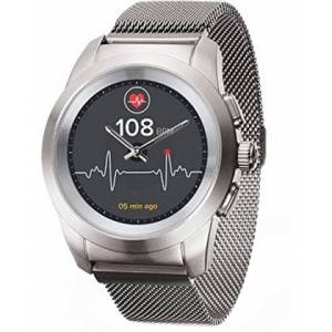 MyKronoz Hybridní hodinky ZeTime Elite Brushed Silver Milan - 44 mm