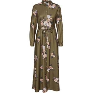 Vero Moda Dámské šaty VMNEWALLIE MAXI 10251668 Beech NEWALLIEXS