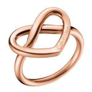 Calvin Klein Srdíčkový bronzový prsten Charming KJ6BPR1001 55 mm