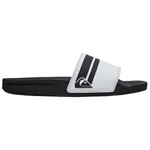 Quiksilver Pánské pantofle Rivi Slide White/Black/White AQYL100867-XWKW 45