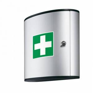 DURABLE Hliníková nástěnná lékárnička, 30x28x12 cm, bez náplně