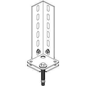 B2B Partner Kotva do podlahy pro regály fix a clip
