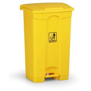 B2B Partner Nášlapný víceúčelový koš 87 litrů, žlutý
