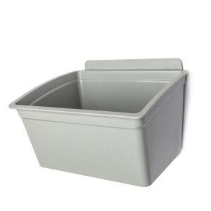 Reponio Plastové závěsné boxy pixina, 175 x 140 x 115 mm, šedý