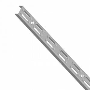 Element System Stojina s dvouřadým děrováním, 500 mm, šedá