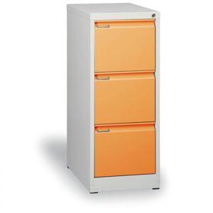 Kovona Kovová kartotéka a4, 3 zásuvky, oranžové