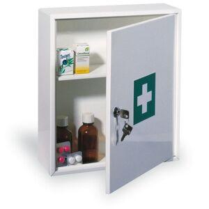COMSAFE Kovová nástěnná lékárnička na pracoviště, 36x31,5x11 cm, bez náplně