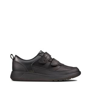 Clarks Trainers - Scape Flare K Black leather 34