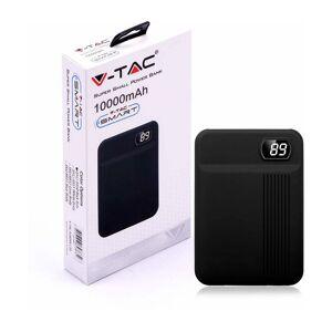 V-TAC Power banka VT-3504 Black Li-Pol 10000mAh, 2x USB port 5V/2A, digitální displej